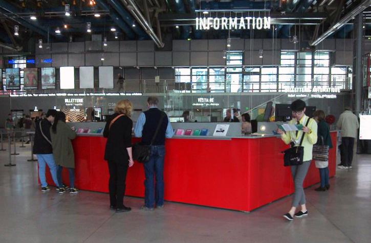 Nouvelle banque d'accueil du Pompidou