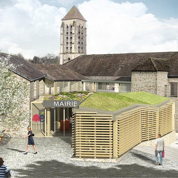 Étiolles – Mairie et coeur de village
